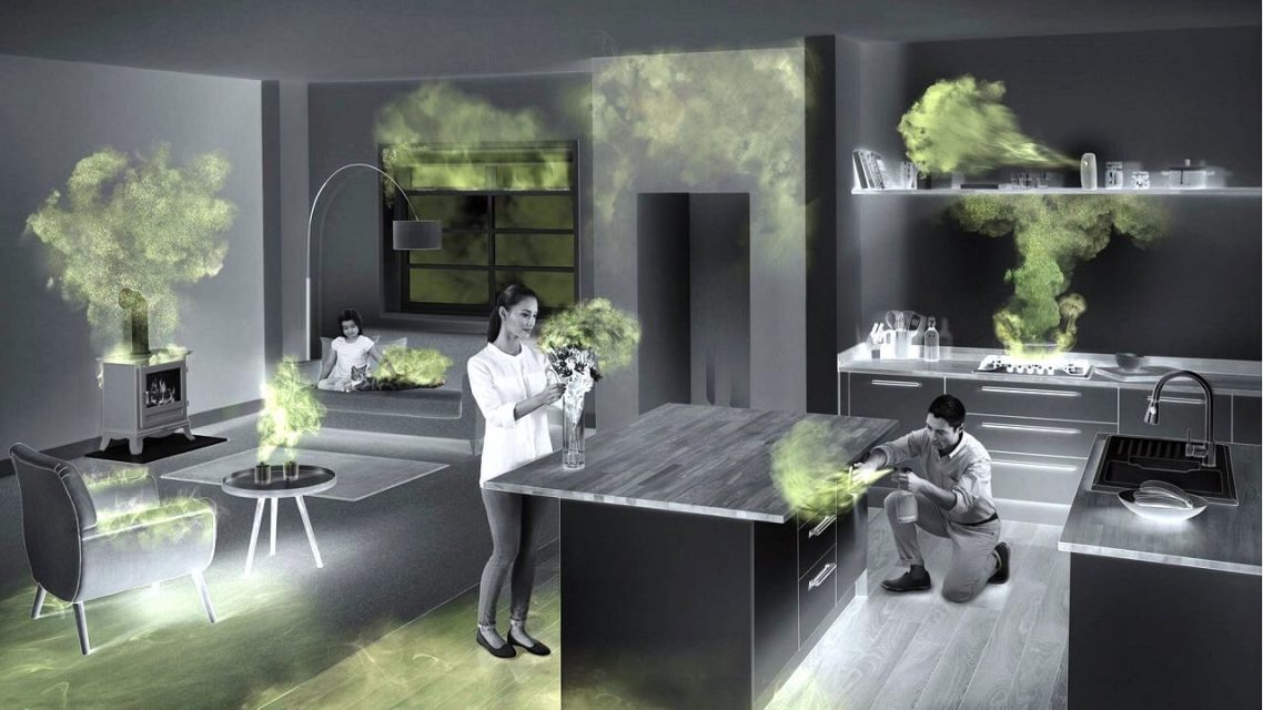 Comment l'activité humaine influe t-elle sur la pollution intérieure dans une maison?
